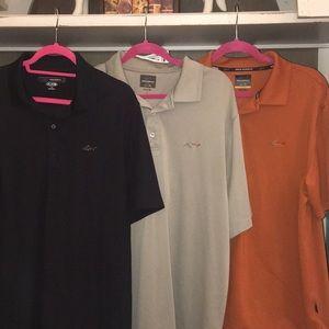 Greg Norman play dry golf polo shirts large